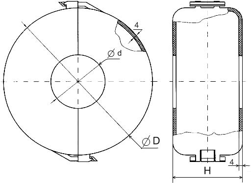 Кожух защитный полиэтиленовый КЗП исполнение 1